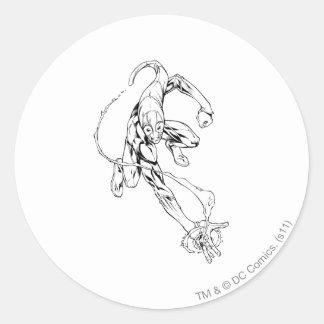 Blue Lantern 9 Round Sticker