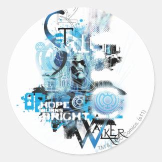 Blue Lantern Graphic 1 Round Stickers