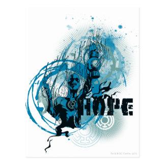 Blue Lantern Graphic 3 Post Card