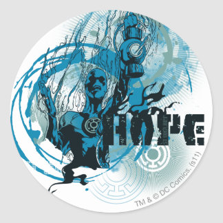 Blue Lantern Graphic 3 Round Sticker