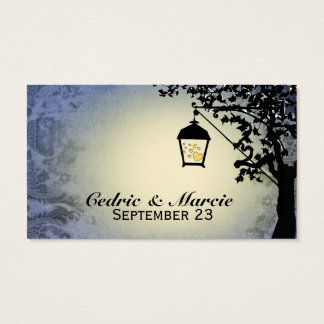 Blue Lantern Streetlamp Place Cards
