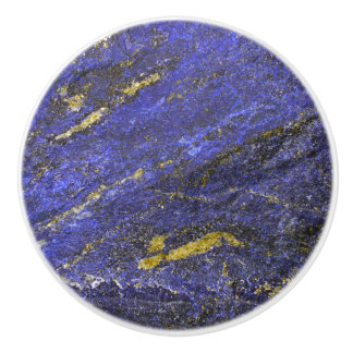 Blue Lapis Gemstone Ceramic Knob