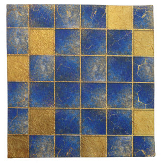 Blue Lapis Lazuli and gold pattern Napkin