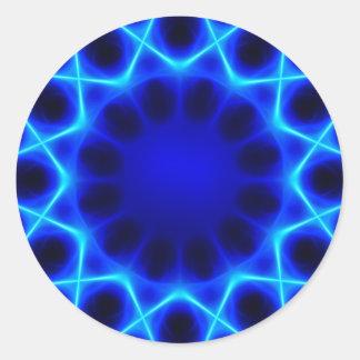 Blue laser #2 classic round sticker