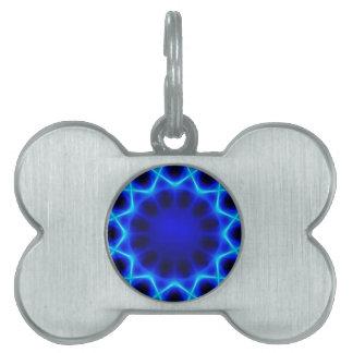 Blue laser #2 pet name tag