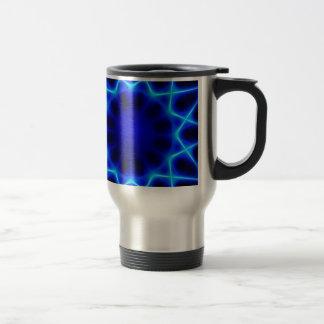 Blue laser #2 travel mug