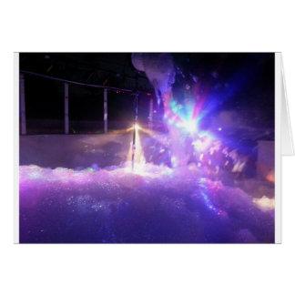 Blue lasers lights foam card