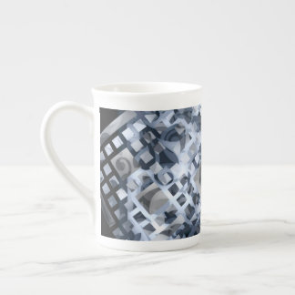 Blue Lattice Tea Cup