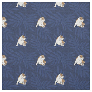 Blue Lauae Bulldog Fabric