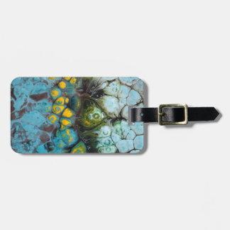 Blue Layered Rock Luggage Tag