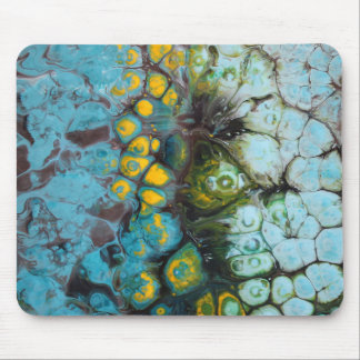 Blue Layered Rock Mouse Pad