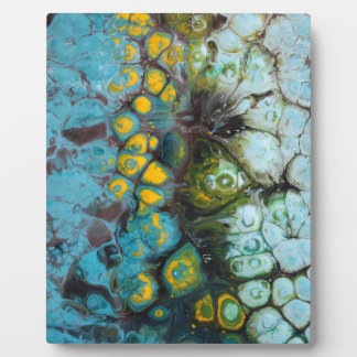 Blue Layered Rock Plaque
