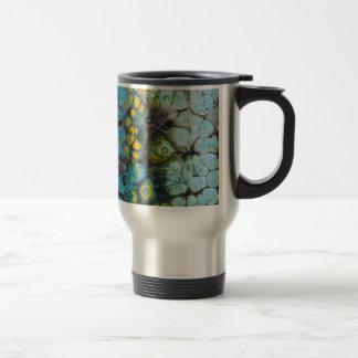 Blue Layered Rock Travel Mug