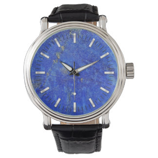 Blue Lazurite Gemstone Watch