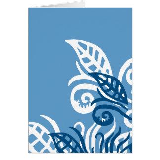 blue leafe design god love you card