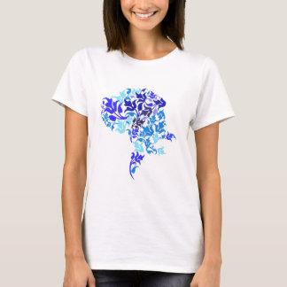 Blue leafs Great Dane T-Shirt
