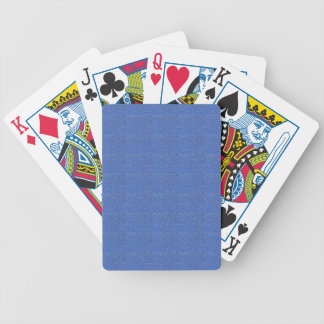 Blue Leather look texture background add text img Bicycle Playing Cards