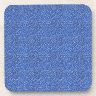Blue Leather look texture background add text img Coasters