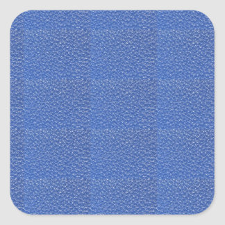 Blue Leather look texture background add text img Square Sticker