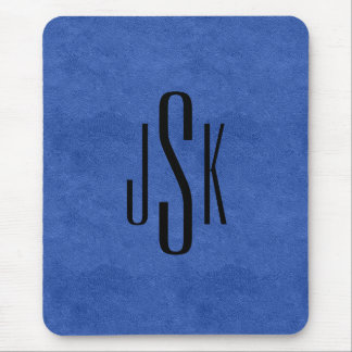 Blue Leather Mouse Pad