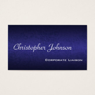 Blue Leather Professional Standard Business Card