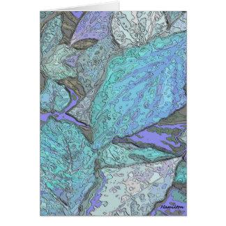 Blue leaves Greeting card