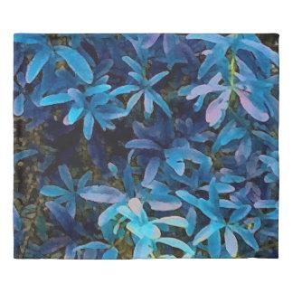 Blue Leaves Impression Duvet Cover