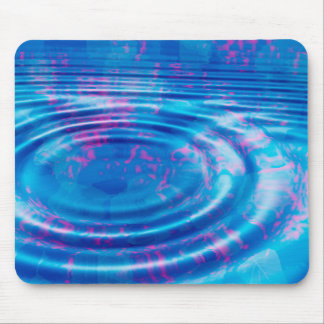 Blue Leaves Whirlpool Mouse Pad