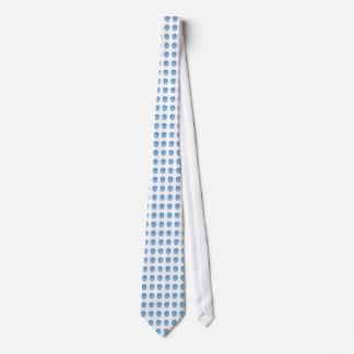 Blue Leds on White Tie