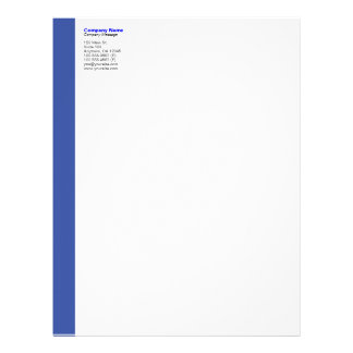 Blue Left Sidebar Letterhead