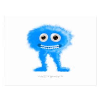Blue Leggy Critter Postcard