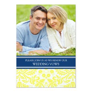 Blue Lemon Photo Wedding Vow Renewal Invitation
