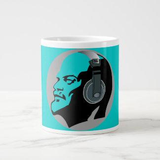 BLUE LENIN WITH FUNKY HEADPHONES LARGE COFFEE MUG