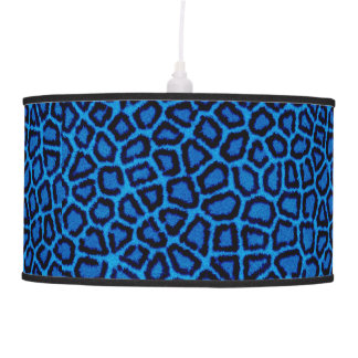 Blue Leopard Print Pendant Lamp