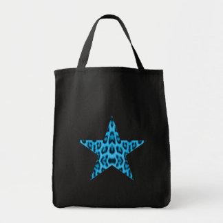 Blue Leopard Star Bag