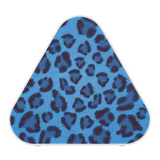 blue leopard texture pattern blueooth speaker