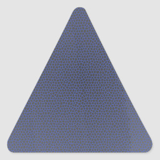 Blue leopard triangle sticker