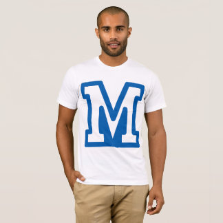 Blue Letter M Mens T-Shirt