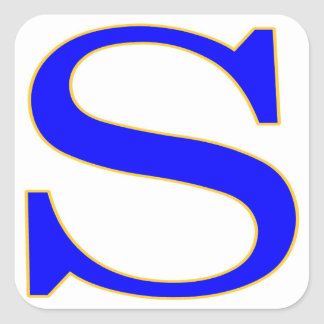 Blue Letter S Sticker