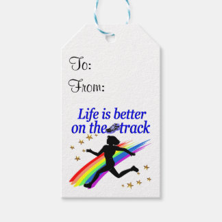 BLUE LIFE IS BETTER ON THE TRACK DESIGN PACK OF GIFT TAGS