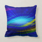 Blue Light Abstract Art 2 Throw Pillow
