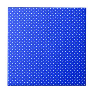 Blue-Light And-White-Polka-Dots Ceramic Tile