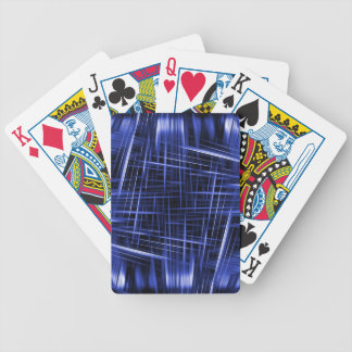 Blue light beams pattern bicycle playing cards