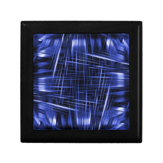 Blue light beams pattern gift box