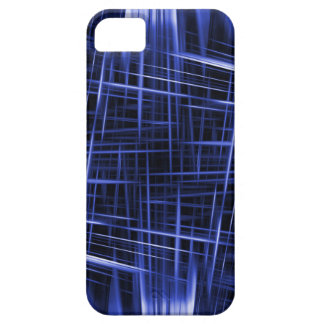 Blue light beams pattern iPhone 5 case