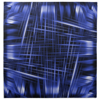 Blue light beams pattern napkin
