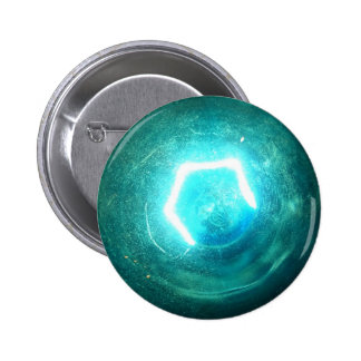 Blue Light Bulb 2 Inch Round Button
