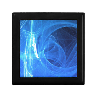 Blue light glowing abstract jewelry box