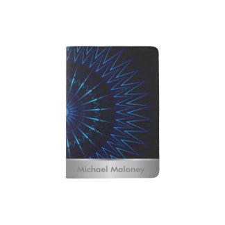 Blue Light Mandala Passport Holder