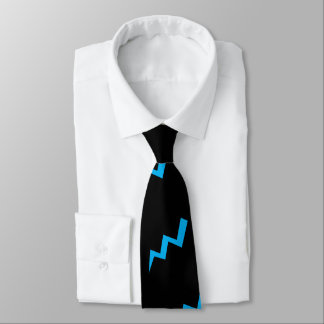 Blue Lightening Tie Lightening Strike